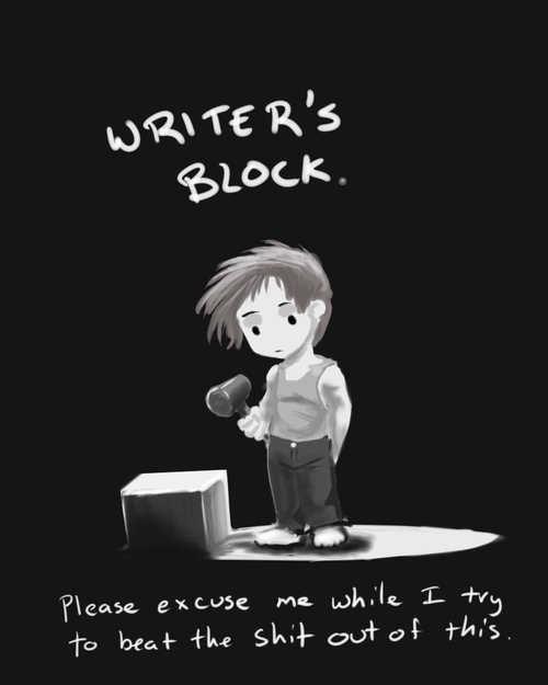 I have writers block help?